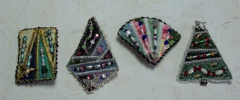 Assorted Art Quilt Pins, Andrus Gardens Quilts, Sue Andrus